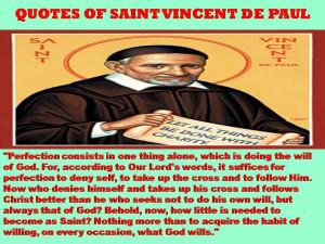 QUOTES OF SAINT VINCENT DE PAUL – 10-01-2013
