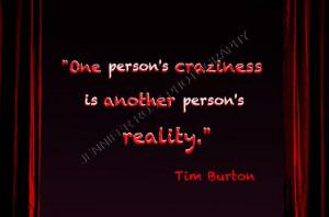 ... www.etsy.com/listing/154191035/tim-burton-goth-quote-art-5x7-framed