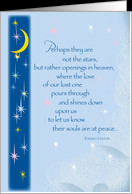 Miscarriage Sympathy, Angel Baby, Sky and Stars card - Product #646477
