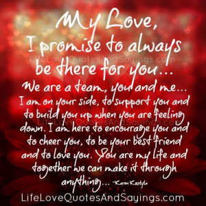 Promise To Always Be There For You..