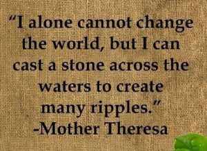 Blessed Mother Teresa - I alone cannot change the world but I can cast ...