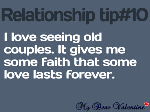 Sweet love quotes - I love seeing old couples.