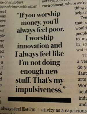 Innovation Quote Tom Sachs WSJ
