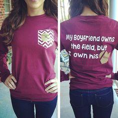 Football Girlfriend Shirt by GlitterDazzleShine on Etsy, $19.99 More