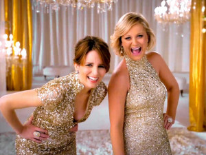 Tina Fey and Amy Poehler get hyped up for their upcoming 2013 Golden ...