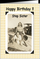 Happy Birthday Step Sister card - Product #207259