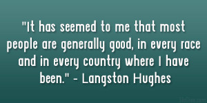 Langston Hughes Quotes On Racism