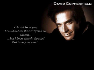 David Copperfield Magic Card Trick