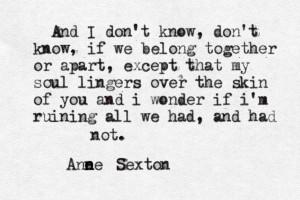 Anne Sexton}