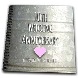 3dRose db_154441_2 10th Wedding Anniversary Gift Tin Celebrating 10 ...