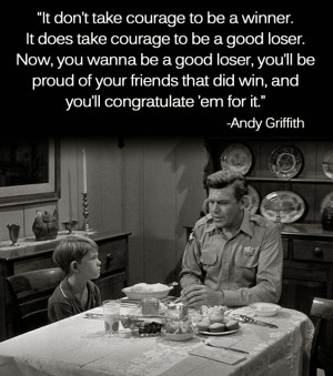 Andy Griffith on Being a Good Loser