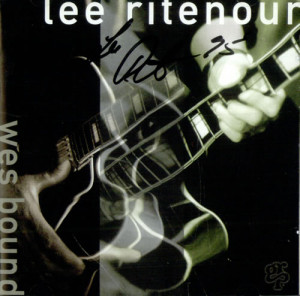 Lee Ritenour Wes Bound - Autographed USA CD ALBUM GRD-9697