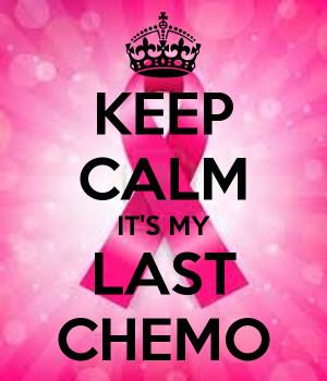 KEEP CALM IT'S MY LAST CHEMO