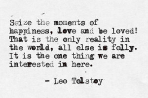 typewritten #leo tolstoy #war and peace #quote
