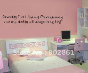 ... My King girl's room Vinyl Wall Saying Quote Decals(China (Mainland