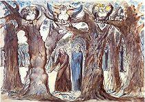 Maler: William Blake , Die Göttliche Komödie , Inferno