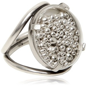 ANN DEMEULEMEESTER Round Silver Chain Ring - Silver