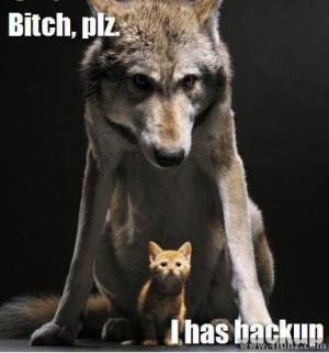 backup wolf
