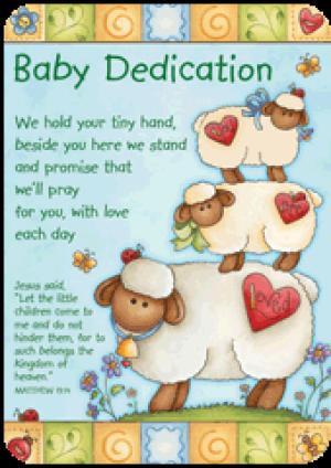 Verse Card - Baby Dedication