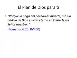 El Plan de Dios para ti •