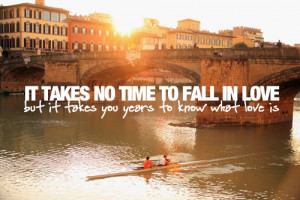 iT TAKES NO TiME TO FALL iN LOVE,