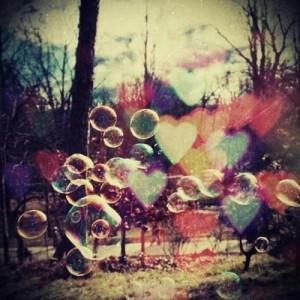 bubbles, color, cool, cute, heart