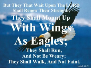 ... eagles; they shall run, and not be weary; and they shall walk, and not