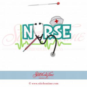 21 Medical : NURSE Applique 5x7