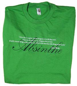 Oscar-Wilde-Absinthe-Quote-Green-Mens-T-Shirt-NEW-sz-M