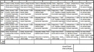 Use the rubric below, and the description above, to guide your writing ...