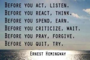 Ernest Hemingway Love Quotes Quote Image