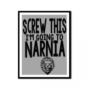 Chronicles of Narnia CS Lewis Book Lover Posters Funny Quotes Aslan on ...