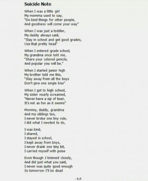 Suicide Note Quotes