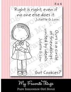 Girl Scout - Pure Innocence Clear Stamps ideas (quote, saying, picture ...