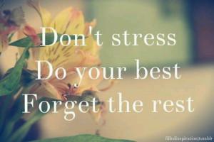 Don't stress reminder....