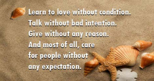 Learn Love Without Condition