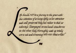 calligraphy life quote