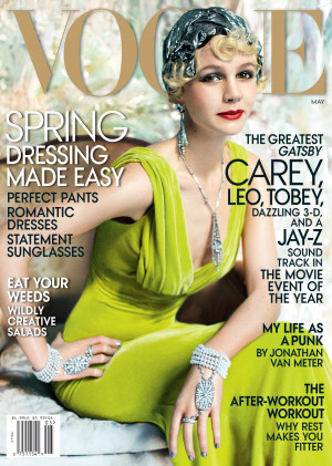 ... poses as Gatsby's Daisy Buchanan for Vogue: gorgeous or weird