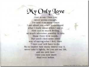 many how much i love you poems