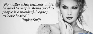 Taylor Swift Quote 618 Facebook Cover