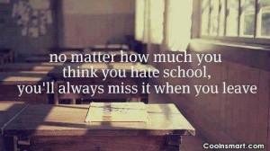 No School Quotes
