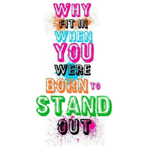 Neon typography quote print A3 print Dr. Seuss liked on Polyvore