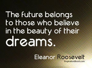 Believe Quotes – Eleanor Roosevelt