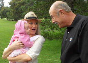 Dr Phil with his 3 month old granddaughter Avery and daughter-in-law ...