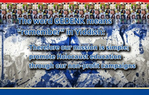 The word Gedenk is Yiddish for