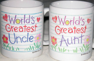 Personalized Coffee Mug - Aunt and Uncle Sayings - Ready to Ship