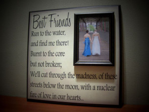 Best Friends Picture Frame, Maid of Honor, Bridesmaid, Sister, Special ...