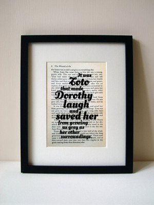 Wizard Of Oz - Book Quote Print - Dog Quote - Birthday Gift - Mothers ...
