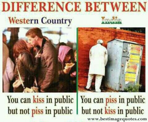 Title: Difference between Western Country and India …