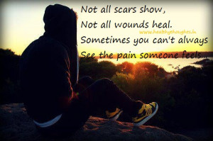 inspirational thought-feel the pain